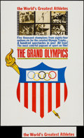 "Movie Posters:Documentary, The Grand Olympics (Times Films Corp., 1961). One Sheet (27"" X 41""), Photos (15) (8"" X 10""), Trimmed Photos (2) (Various Siz... (Total: 19 Items)"