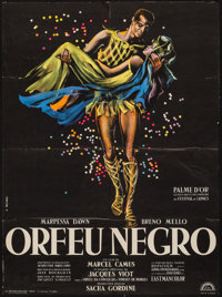 """Black Orpheus (Lux, 1959). French Affiche (22.75"""" X 30.75""""). Foreign"""