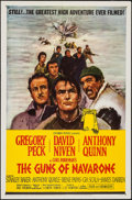 """Movie Posters:War, The Guns of Navarone (Columbia, R-1966). One Sheet (27"""" X 41"""")& Pressbook (10 Pages, 11"""" X 17""""). War.. ... (Total: 2 Items)"""