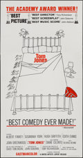 "Movie Posters:Academy Award Winners, Tom Jones (United Artists, 1963). Three Sheet (41"" X 79"") Style B.Academy Award Winners.. ..."