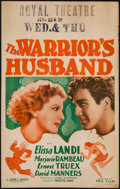 """Movie Posters:Comedy, The Warrior's Husband (Fox, 1933). Window Card (14"""" X 22"""").Comedy.. ..."""