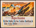 """Movie Posters:Western, Major Dundee (Columbia, 1965). Title Lobby Card (11"""" X 14""""), Uncut Pressbook (12 Pages, 11"""" X 17""""), & Photos (11) (8"""" X 10"""")... (Total: 13 Items)"""