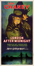 "Movie Posters:Horror, London After Midnight (MGM, 1927). Three Sheet (41"" X 81"").. ..."