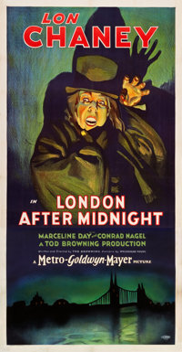 "London After Midnight (MGM, 1927). Three Sheet (41"" X 81"")"