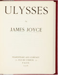Books:Literature 1900-up, James Joyce. Ulysses. Paris: Shakespeare and Company, 1926....