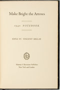 Books:Biography & Memoir, Edna St. Vincent Millay. SIGNED. Make Bright the Arrows: 1940Notebook. New York: Harper & Brothers Publishers, [194...