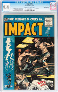 Golden Age (1938-1955):Horror, Impact #5 Gaines File pedigree 11/12 (EC, 1955) CGC NM 9.4 Cream tooff-white pages....