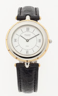 "Luxury Accessories:Accessories, Van Cleef & Arpels Stainless Steel & Plated Gold Wristwatch. Excellent. 6.5"" Width Band. ..."