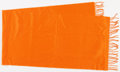"Luxury Accessories:Accessories, Hermes Orange Cashmere Scarf. Excellent Condition. 15"" Width x 58"" Length. ..."