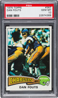 Football Cards:Singles (1970-Now), 1975 Topps Dan Fouts #367 PSA Gem Mint 10. ...