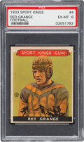 Football Cards:Singles (Pre-1950), 1933 Goudey Sport Kings Red Grange #4 PSA EX-MT 6....