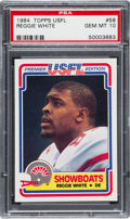 Football Cards:Singles (1970-Now), 1984 Topps USFL Reggie White #58 PSA Gem Mint 10. ...