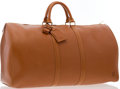 "Luxury Accessories:Accessories, Louis Vuitton Cognac Epi Leather Keepall 55 Weekender Bag. VeryGood Condition. 22"" Width x 12"" Height x 10"" Depth ..."