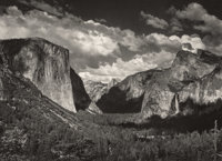 ANSEL ADAMS (American, 1902-1984) Group of Three Photographs: View from Tunnel Esplanade, View from Tunnel Espl