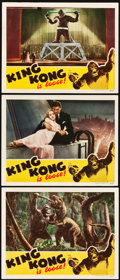 "Movie Posters:Horror, King Kong (RKO, R-1942). Lobby Cards (3) (11"" X 14"").. ... (Total:3 Items)"