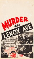 "Movie Posters:Black Films, Murder on Lenox Avenue (Sack Amusement Enterprises, 1941). MidgetWindow Card (8"" X 14"").. ..."