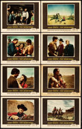 "Movie Posters:Western, The Searchers (Warner Brothers, 1956). Lobby Card Set of 8 (11"" X 14"").. ... (Total: 8 Items)"