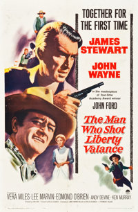 "The Man Who Shot Liberty Valance (Paramount, 1962). One Sheet (27"" X 41"")"