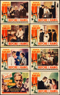 "Movie Posters:Horror, Before I Hang (Columbia, 1940). Lobby Card Set of 8 (11"" X 14"")..... (Total: 8 Items)"