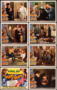 "The Pearl of Death (Universal, 1944). Lobby Card Set of 8 (11"" X 14""). ... (Total: 8 Items)"