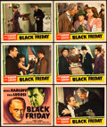 "Movie Posters:Horror, Black Friday (Universal, 1940). Title Lobby Card and Lobby Cards(5) (11"" X 14"").. ... (Total: 6 Items)"