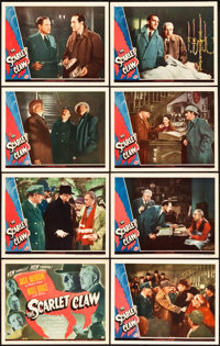 """The Scarlet Claw (Universal, 1944). Lobby Card Set of 8 (11"""" X 14""""). ... (Total: 8 Items)"""