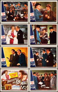 """Dressed to Kill (Universal, 1946). Lobby Card Set of 8 (11"""" X 14""""). ... (Total: 8 Items)"""