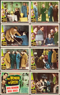 "The Woman in Green (Universal, 1945). Lobby Card Set of 8 (11"" X 14""). ... (Total: 8 Items)"