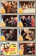 "Movie Posters:Mystery, Sherlock Holmes Faces Death (Universal, 1943). Lobby Card Set of 8(11"" X 14"").. ... (Total: 8 Items)"