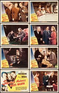 """Sherlock Holmes Faces Death (Universal, 1943). Lobby Card Set of 8 (11"""" X 14""""). ... (Total: 8 Items)"""