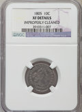 Early Dimes, 1805 10C 4 Berries, JR-2, R.2 -- Improperly Cleaned -- NGC Details.XF....
