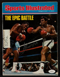 """Boxing Collectibles:Autographs, 1975 Joe Frazier Signed """"Sports Illustrated"""" Magazine...."""
