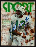 """Football Collectibles:Publications, Joe Namath Signed """"SPORT"""" Magazine Cover...."""