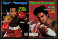 """Boxing Collectibles:Autographs, Sugar Ray Leonard and Roberto Duran Signed """"Sports Illustrated""""Magazines Lot of 2...."""