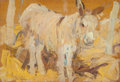 Paintings, LEON GASPARD (Russian/American, 1882-1964). Burro. Oil on panel. 4-3/4 x 7 inches (12.1 x 17.8 cm). Signed lower left: ...