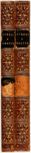 Books:Literature Pre-1900, Rev. M. Madan. A New and Literal Translation of Juvenal andPersius; with Copious Explanatory Notes... In Two Volumes...(Total: 2 Items)