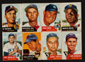 Baseball Cards:Sets, 1953 Topps Baseball Starter Set (57 Different) With 3 Autographs....