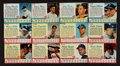 Baseball Cards:Sets, 1962 Post Cereal Baseball Near Set (147/200)....