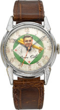 Timepieces:Wristwatch, Babe Ruth (Swiss) Character Wristwatch, circa 1948. ...
