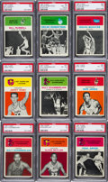 Basketball Cards:Lots, 1961 Fleer Basketball Collection (112). ...