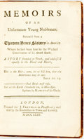 Books:Biography & Memoir, [Slave Narrative]. [James Annesly]. Memoirs of an Unfortunate Young Nobleman, Return'd from a Thirteen Years Slavery in ...