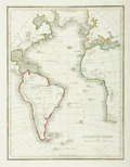 Books:Maps & Atlases, [Maps]. [Slavery]. Engraved Map Depicting The Atlantic Ocean, Including Africa, Europe, North and South America. [N.p., n.d....