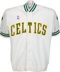 Basketball Collectibles:Others, Circa 1987-88 Reggie Lewis Game Worn Boston Celtics Shooting Jacket. ...