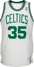 Basketball Collectibles:Uniforms, 1987-88 Reggie Lewis Game Worn Boston Celtics Jersey. ...