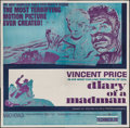 "Movie Posters:Horror, Diary of a Madman (United Artists, 1963). Six Sheet (80"" X 79""). Horror.. ..."