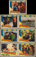"Movie Posters:War, The Invaders (Columbia, 1941). Title Lobby Card & Lobby Cards(6) (11"" X 14""). War.. ... (Total: 7 Items)"