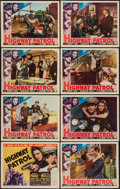 "Movie Posters:Action, Highway Patrol (Columbia, 1938). Lobby Card Set of 8 (11"" X 14"").Action.. ... (Total: 8 Items)"