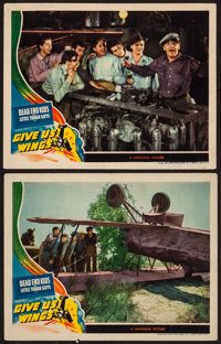 """Give Us Wings (Universal, 1940). Lobby Cards (2) (11"""" X 14""""). Adventure. ... (Total: 2 Items)"""