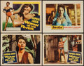 "Movie Posters:Foreign, Woman of the River & Other Lot (Columbia, 1957). Title Lobby Card and Lobby Cards (3) (11"" X 14""). Foreign.. ... (Total: 4 Items)"