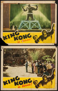 """Movie Posters:Horror, King Kong (RKO, R-1942). Lobby Cards (2) (11"""" X 14""""). Horror.. ... (Total: 2 Items)"""